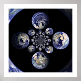 数々の--地球の曼荼羅 ポスター