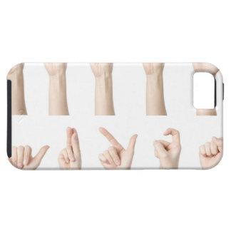 数える中国のな方法を示す手 iPhone SE/5/5s ケース