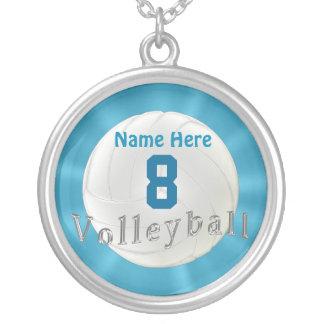 数および名前のバレーボールのネックレス シルバープレートネックレス