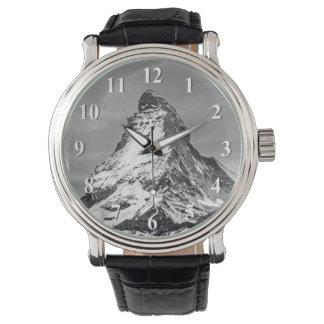 数と白黒マッターホルン 腕時計