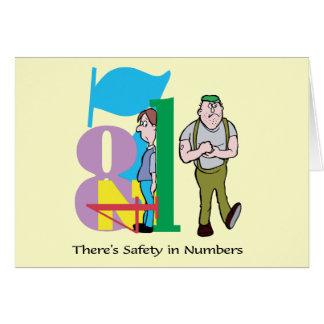 数に安全-言葉遊びがあります カード