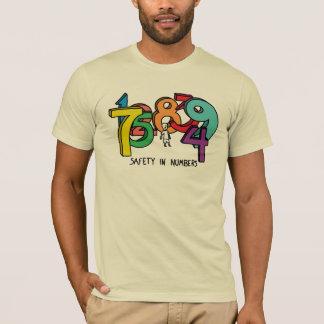 数の安全 Tシャツ