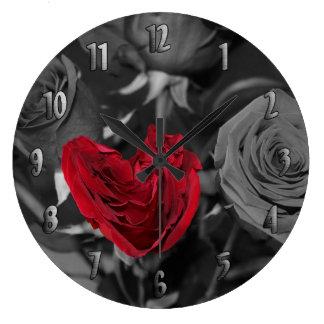 数を用いる不完全に完全な時計 ラージ壁時計