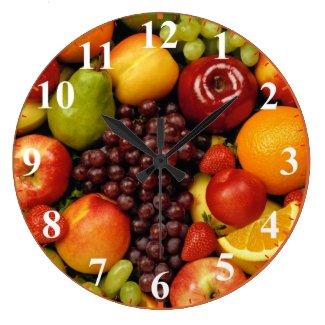 数を用いる混合された全フルーツの時計