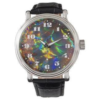 数を用いる火オパールの宝石用原石 腕時計