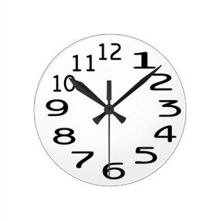 数を用いるPersonalisableの時計のテンプレート ラウンド壁時計