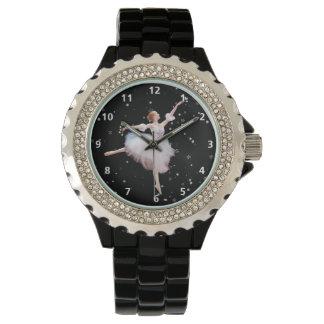 数字の雪の女王のバレリーナ 腕時計