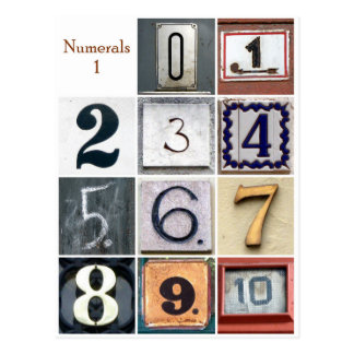 数字1 ポストカード