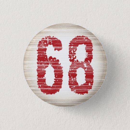 【数字】68バッチ 3.2CM 丸型バッジ