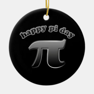 数学のおたく3月14日のための幸せなPi日| Piの記号 セラミックオーナメント