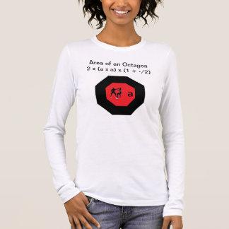 数学のやり手: 八角形の区域 長袖Tシャツ