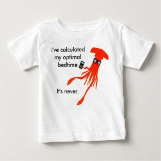 数学のイカの就寝時間のTシャツ ベビーTシャツ