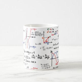 数学のカンニングペーパーのマグ コーヒーマグカップ