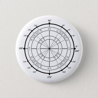 数学のギークの単位円 缶バッジ