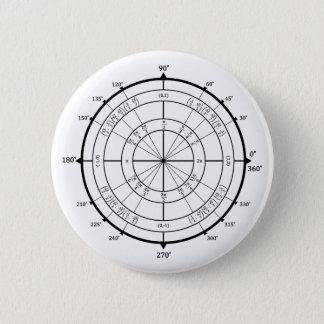 数学のギークの単位円 5.7CM 丸型バッジ