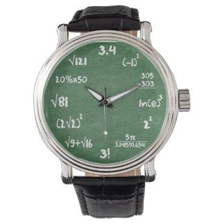 数学のギークの腕時計 腕時計