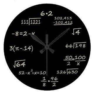 数学のギーク ラージ壁時計