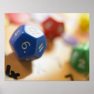 数学のゲームのサイコロ ポスター