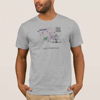 数学のスーパーヒーローのカスタムのティー Tシャツ