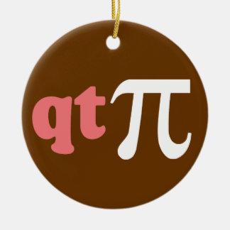数学のユーモア-かわいいティーPi セラミックオーナメント