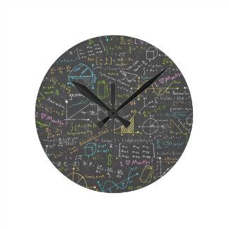数学のレッスン ラウンド壁時計