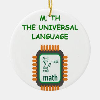 数学の冗談 セラミックオーナメント