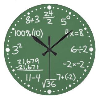 数学の分の数学同等化の時計 ラージ壁時計