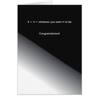 数学の卒業(写真を加えて下さい) カード
