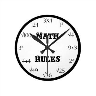 数学の同等化の教室の時計 ラウンド壁時計