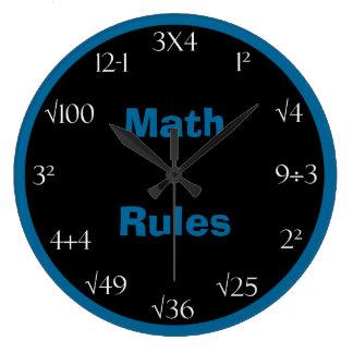 数学の問題の教室の時計-数学の規則 ラージ壁時計