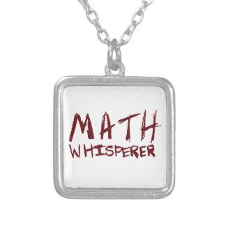 数学の囁くもののネックレス シルバープレートネックレス