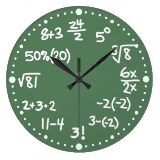数学の数学同等化の時計版2 ラージ壁時計