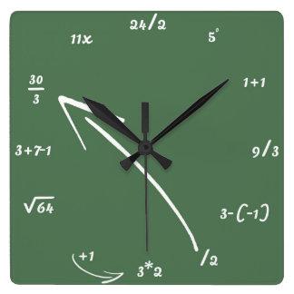 数学の数学同等化 スクエア壁時計
