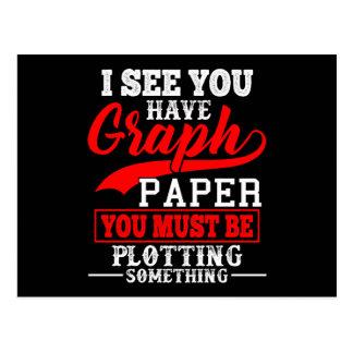 数学の方眼紙の計画何かしゃれの先生 ポストカード