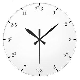 数学の時計の発動を促します ラージ壁時計