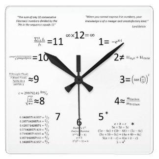 数学の時計 スクエア壁時計