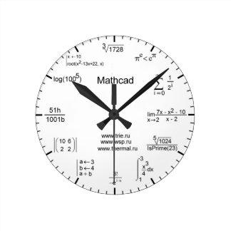 数学の時計 ラウンド壁時計