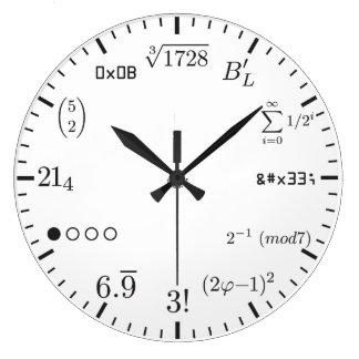 数学の時計v1 ラージ壁時計
