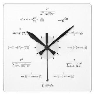 数学の柱時計 スクエア壁時計