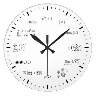 数学の柱時計(大きい) ラージ壁時計