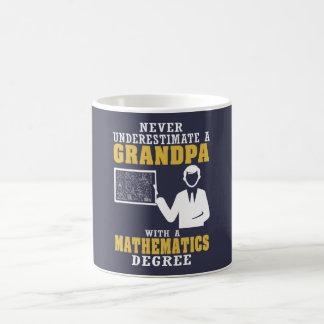 数学の程度の祖父 コーヒーマグカップ
