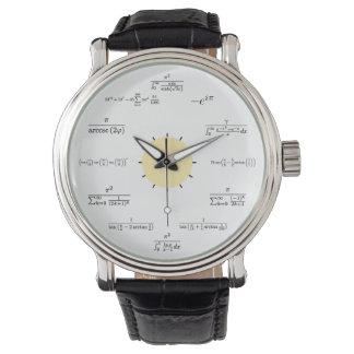 数学の腕時計 腕時計