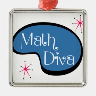 数学の花型女性歌手 メタルオーナメント