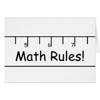 数学の規則! カード