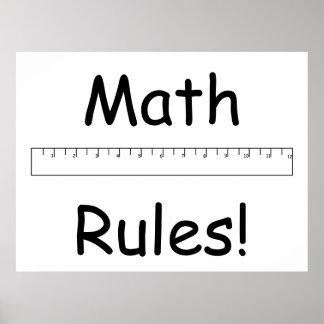 数学の規則! ポスター