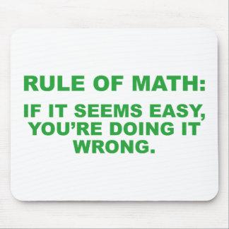 数学の規則 マウスパッド