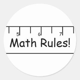 数学の規則! ラウンドシール