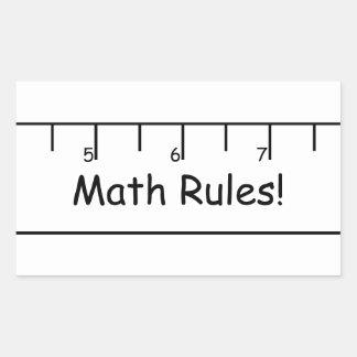 数学の規則! 長方形シール