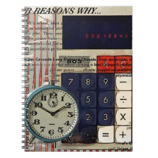 数学の財務顧問の会計士の計算機 ノートブック