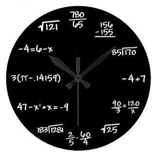 数学の黒板の時計-数学者 ラージ壁時計